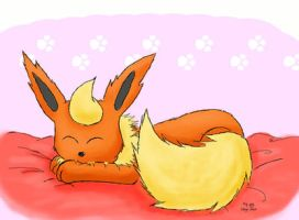 Flareon is tired by VanillaChii