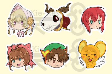 Magus Bride and Cardcaptor Chibi Heads by Kie-Kay