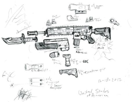 an AR-15 by dranor44