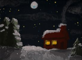 Moonlit Winter Night by BoogieBoyLock