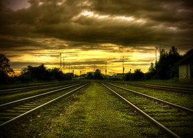 Railway stormy touch by FilipR8