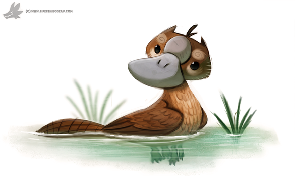 Daily Painting #869. Platygriff by Cryptid-Creations