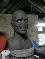 Lord Voldemort 1:1 Bust WIP by XtcofPain