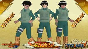 Naruto - Guy Might PACK 1 FOR XPS by ASideOfChidori