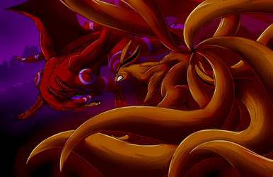 NHC: Kurama Vs Dragon by mattwilson83