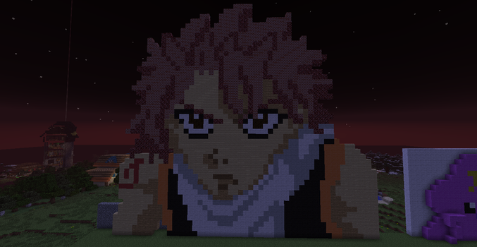 ~Natsu~:Fairytail: Minecraft Pixel Art by totallyepicmudkipz