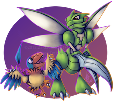 Pokemon - Scyther and Archen