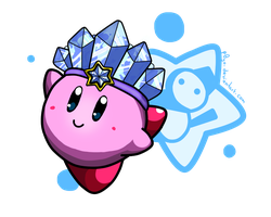 Ice Kirby! by p0Yo