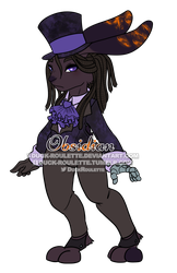 Obsidian Bunny Adopt by Duck-Roulette