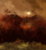 The Red mountain by LeKsoTiger