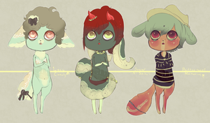 Candy Bites -Draw-to-Adopt Edition- .:Winners:. by Pietastic-Creations