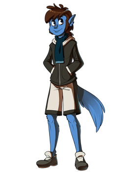 Commission - Reese in a Hoodie by EarthGwee