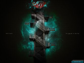 NaNo Paper: 50 Thousand Stairs by ScarlettArcher