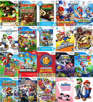 Mario's Wii Games by sonictoast