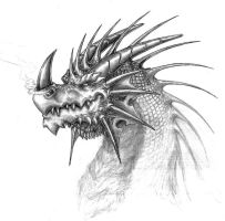 Another Dragon sketch by RtotheYO