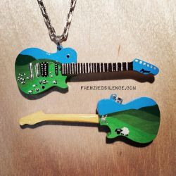 Matt Bellamy WarChild Charity Guitar Pendant by frenziedsilence