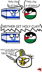 Countryballs Comic #17: Holy Land by TheMewx