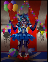 ''Let The FreakShow Begin'' (Commission) by XxLorena-The-BunnyxX