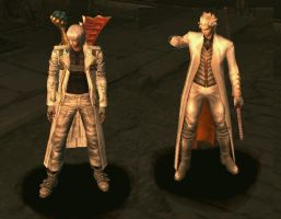 Dante and Vergil in white by Arivain-Shadowflare