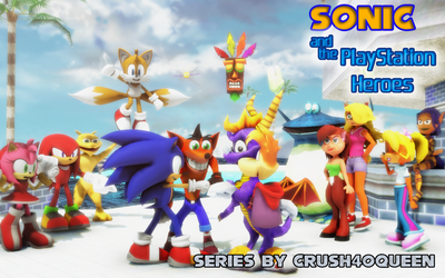Crush40Queen's Sonic and The PlayStation Heroes by NinjawsGaiden
