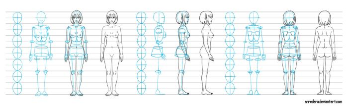 Base draw woman - tutorial by anredera