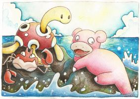 Beach side pokemon