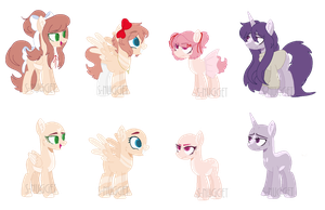 DDLC themed adopts CLOSED by Space-Klown