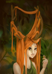 Antler girl by sofie-arts
