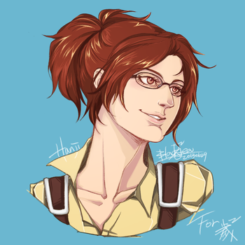 Attack On Titan - Hanji Zoe by blackteakimi