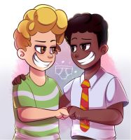 Captain Underpants George a and Harold by Abakura