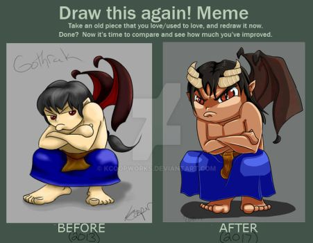 Chibi Goth Before and After by KCoopWorks