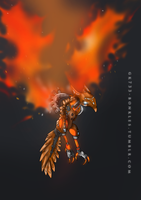 BIONICLE: Ikir, Creature of Fire by gk733