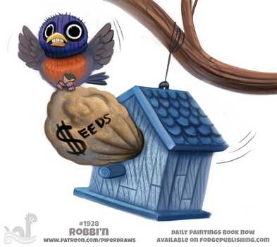 Daily Paint 1928# Robbi'n by Cryptid-Creations