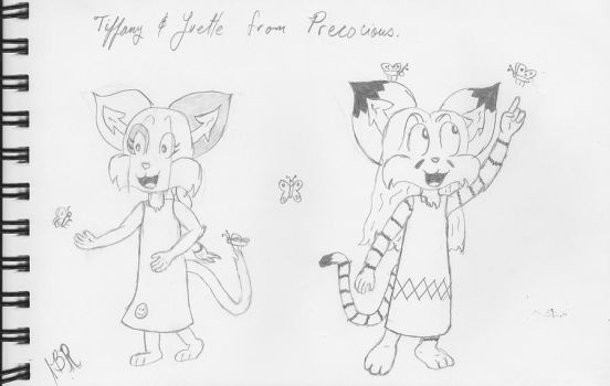 Tiff and Yvette  Sketches by Wolf-Guard