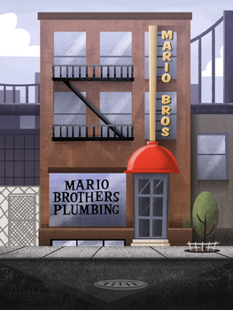 MARIO - Mario Brothers Plumbing by LWB-the-FluffyMystic
