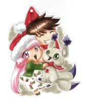 Christmas Chibi ornament FREE DOWNLOAD by Mistiqarts