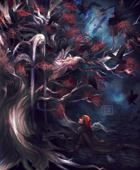 Bloodraven and Bran by Ysenna