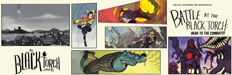 Battle at the Black Torch, panel previews by oh8