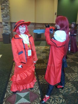 YamaCon 2014  : Madam Red(Me) and Grell ..again XD by icechick14