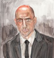 Painting Mark Strong by i77310