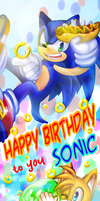 Happy Birthday to you Sonic!2012 by BloomTH