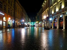 Cracow Street by Night by krychu84