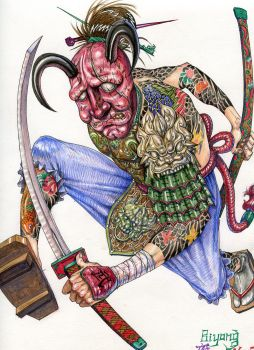 Mix Warrior- Water Color 2012 by Biyong051