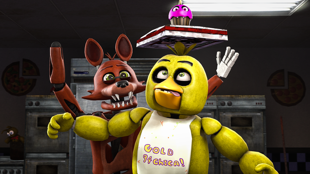 Look ma, no hands! (SFM  friend-art) by gold94chica