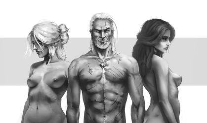 The witcher Nude torso by tranenlarm