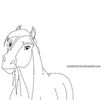 Free Horse LineArt 3 by LineArtForFree