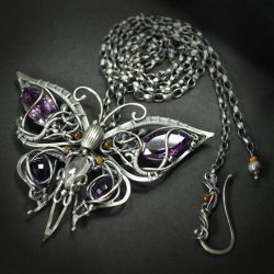 Purple Emperor - necklace 2 by BartoszCiba