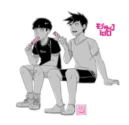 Mob Psycho 100: Summer Siblings by Auro-Cyanide