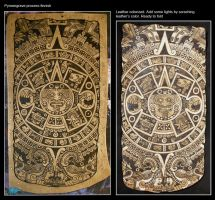 Aztec calendar pouch process by morgenland