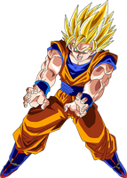 Super Saiyan 2 Goku by BrusselTheSaiyan